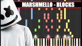 IMPOSSIBLE REMIX : MARSHMELLO - BLOCKS || SYNTHESIA PIANO