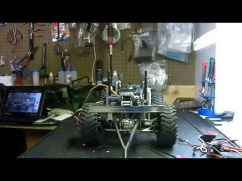 Gmade sawback update servo chassis mount & new esc