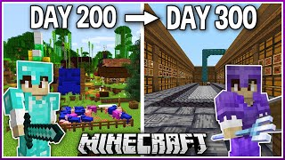 I Played Minecraft for 300 Days.. (1.16 Survival)