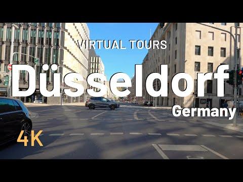 DUSSELDORF driving tour  Germany (Deutschland) 4K Video Tour