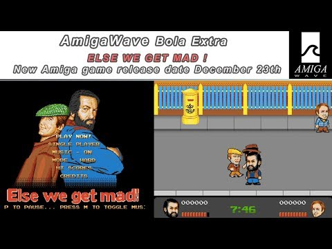 Official release of Amiga game Else We Get Mad! with Alex Brown