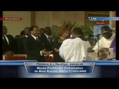 Inhumation de Madame Rosette Mboutchouang, mère de Madame Chantal Biya