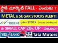 Sugar Stocks , Metal stocks, Trident stock, yes bank stock, tata motors stock, Hsil stock
