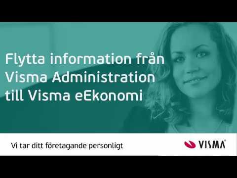 Flytta information från Visma Administration till Visma eEkonomi