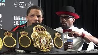 GERVONTA DAVIS & FLOYD MAYWEATHER SECONDS AFTER LEO SANTA CRUZ FIGHT  EsNews Boxing
