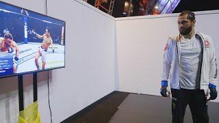 Jorge Masvidal Watches Max Holloway Fight Backstage At UFC Fight Island