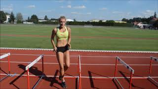 Hurdle training, one step drills, hurdle drills