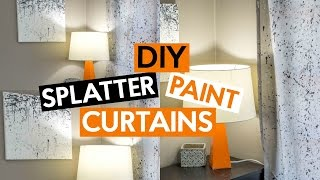 DIY SPLATTER PAINT | Simple Curtains