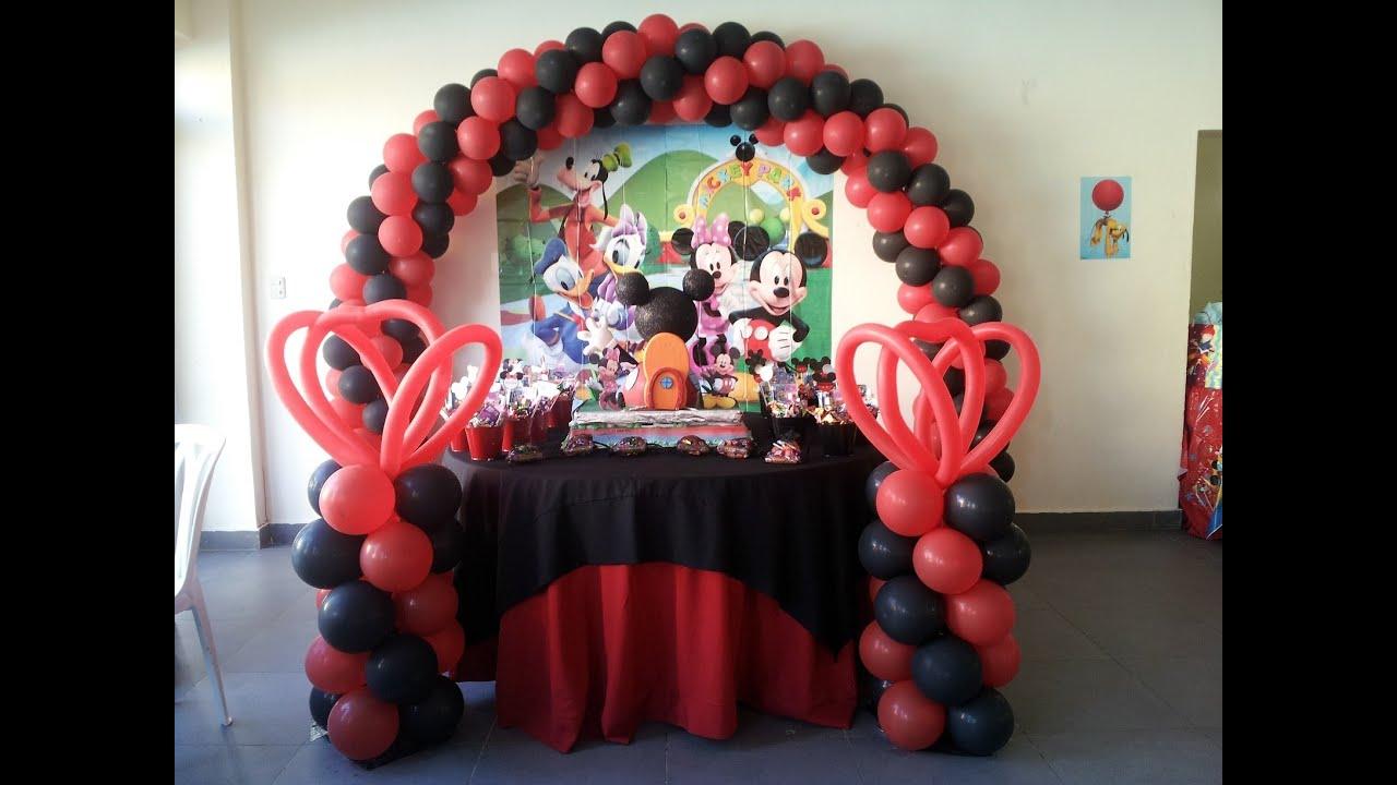 mickey mouse decoracion de globos decoracion cumpleaos mickey mouse youtube