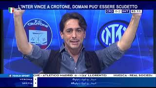 Crotone Inter 0-2 con Filippo Tramontana