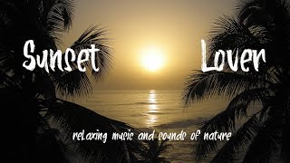 Sunset  With Sea Sounds~Relaxing music and video ~ Background music ~Arabic oriental music