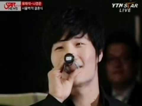 080706 Kim Jong Kook singing at Yoo Jae Suk's Wedding
