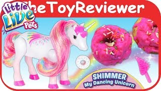 Little Live Pets Shimmer My Dancing Unicorn Donuts Sparkles Unboxing Toy Review by TheToyReviewer