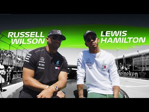 Lewis Hamilton & Russell Wilson Flat Out in Montreal!