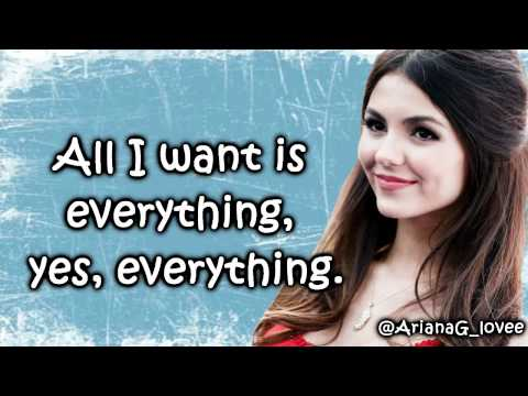 Baixar All I Want Is Everything - Victoria Justice (Lyrics)