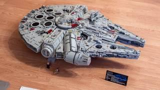 Lego UCS Millennium Falcon (75192) assembly timelapse