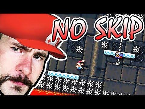 I BEAT A 0.00% COMPLETION FINALLY! // Super Mario Maker SUPER EXPERT No Skip