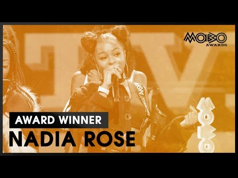 NADIA ROSE | Skwod | BEST VIDEO acceptance speech at MOBO Awards | 2016 | MOBO