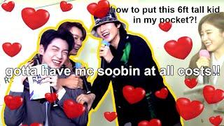 everyone wanna abduct mc soobin! (SUJU's D&E, ITZY, APink's Namjoo, Jessi, Ateez, KARD's BM)