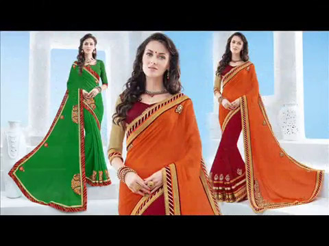 Latest Designer & Casual Sarees: Buy Beautiful Lace Designs Saree Blouse Online India at Cheap Price