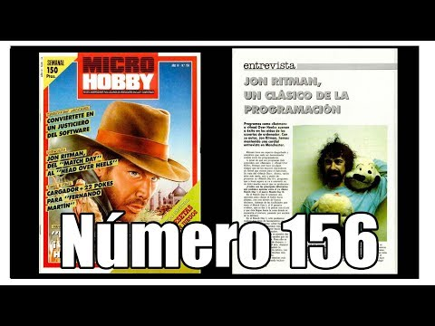 MICROHOBBY 156  INDIANA JONES AND THE TEMPLE OF DOOM   ENTREVISTA A JOHN RITMAN