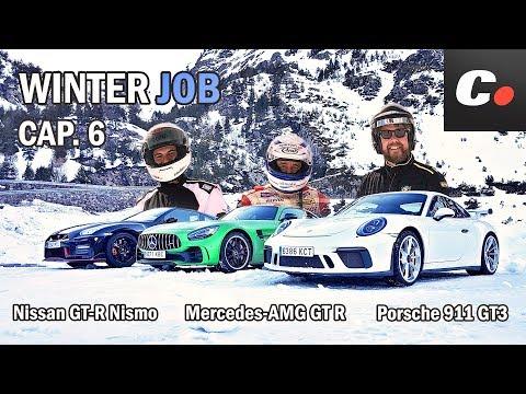 Mercedes-AMG GT R vs Nissan GT-R Nismo vs Porsche 911 GT3 | WINTER JOB Cap.6 | coches.net