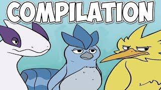 Pokemon Nekoama Comic Dubs LEGENDARY BIRDS COMPILATION