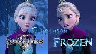 Kingdom Hearts 3 vs Frozen - Let it Go Comparison (Spoiler Warning)