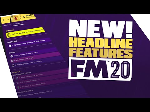 Football Manager 2020 - Headline Features LIVE Reaction! / FM20