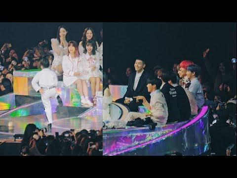 방탄소년단(BTS) Reaction to 나하은( Na Haeun) Cover Dance @181201 MMA [ 4k Fancam/직캠