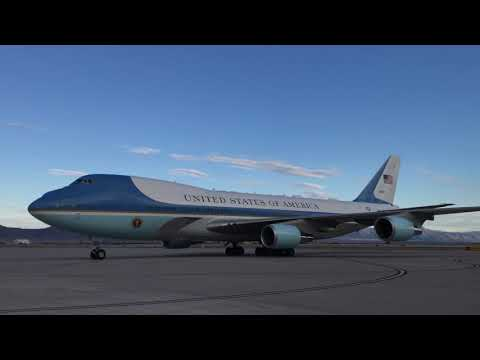 Air Force One carrying President Trump lands in Albuquerque