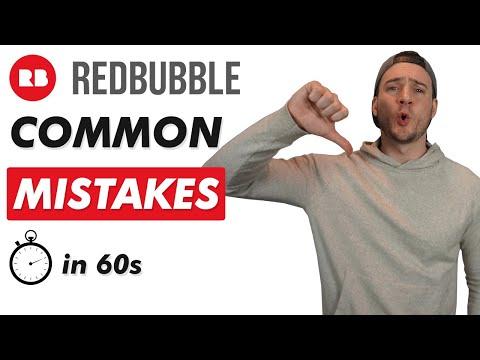 AVOID These Common Redbubble Mistakes!🚫