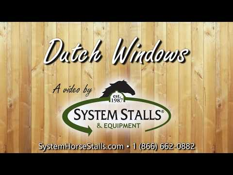 The Benefits of Dutch Windows in Horse Barns