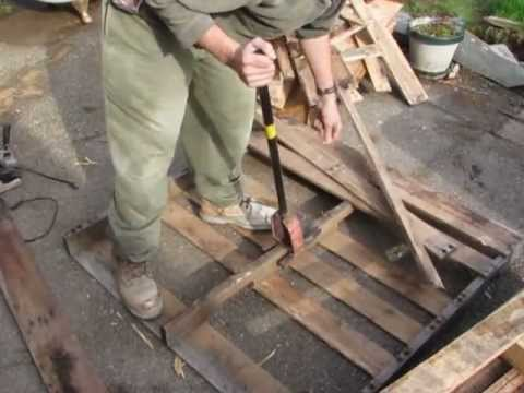 My Diy Pallet Breaker In Action Some Tips To Make Your