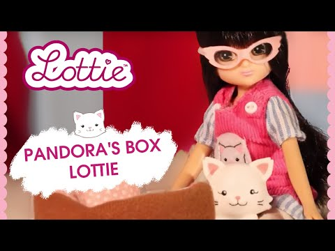 Pandora's Box Lottie doll and Pandora the Persian Cat