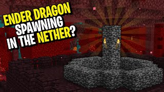 What Happens if the ENDER DRAGON is Summoned in the NETHER? #shorts