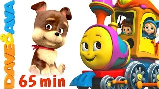 🐷 Farm Animals Train Part 2| Learn Farm Animals & Animal sounds plus Finger Family from Dave and Ava