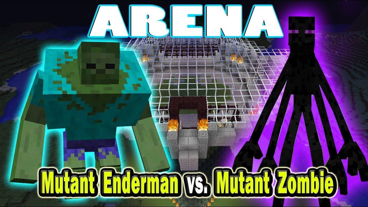 Minecraft Arena Battle Mutant Enderman Vs Mutant Zombie