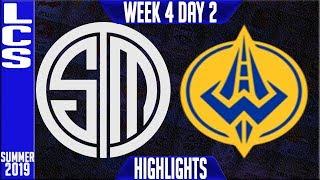 TSM vs GGS Highlights   LCS Summer 2019 Week 4 Day 2   Team Solomid vs Golden Guardians