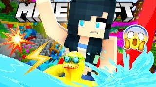 THE CRAZIEST WATER SLIDES IN MINECRAFT! (Lapis Lagoon Waterpark)