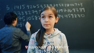 Reciting pi to celebrate Pi Day at Harvard