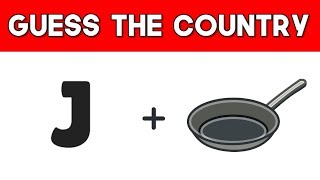 Guess the country by emoji! | Emoji puzzles