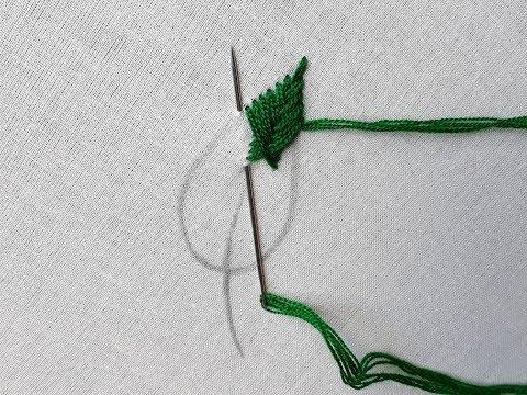 Hand Embroidery Design Fish Bone Stitch Tutorials Handiworks 24