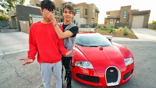 SURPRISING TWIN BROTHER WITH BUGATTI!!