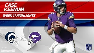 Case Keenum Highlights | Rams vs. Vikings | Wk 11 Player Highlights