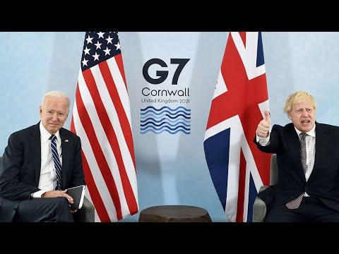 In full: Joe Biden meets Boris Johnson in Cornwall ahead of G7 summit