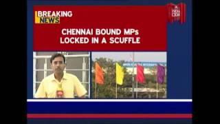 AIADMK MP Sasikala Slaps DMK MP At Delhi Airport..