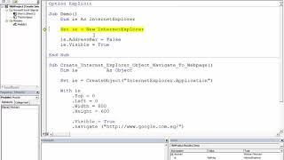سلسلة التعامل مع الانترنت إكسبلورر Internet Explorer من خلال الإكسيل الدرس الأول