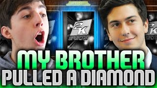 MY BROTHER PULLED 2 DIAMONDS! NBA 2K16 PACK AND PLAY