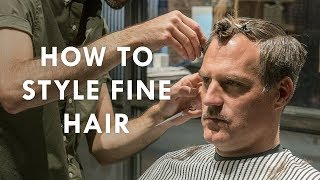 How to style fine hair | J.Crew X Fellow Barber Presents The Cleanup